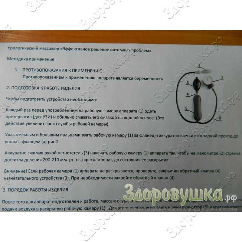 Инструкция к урологическому массажеру dns вакуумный упаковщик